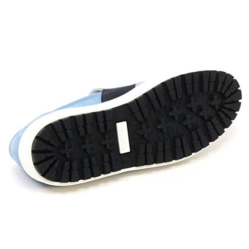B4922 sneaker uomo HOGAN H242 scarpa pantofola slip on azzurro shoe man Azzurro