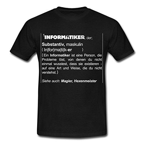 Spreadshirt Definition Informatiker Siehe Magier Humor Männer T-Shirt, M, Schwarz (Humor T-shirt-t-shirt)