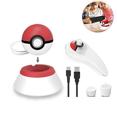 Kit Caricabatterie Pokeball Plus 4pcs Tra Cui Pokemon Pokeball Plus