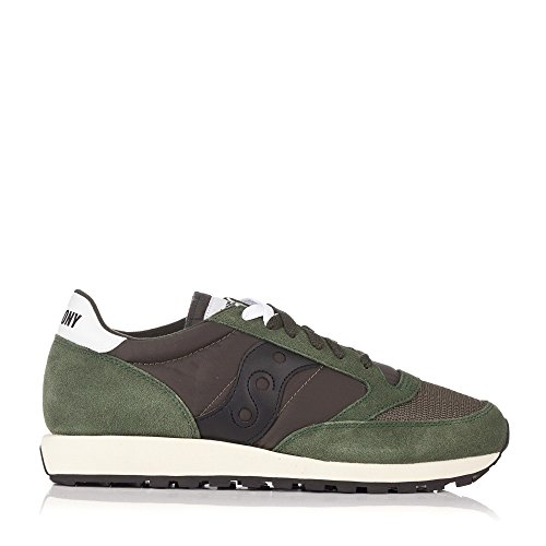 Saucony Jazz Original Vintage, Zapatillas de Cross Unisex Adulto, Verde (Green/Black 8), 44 EU
