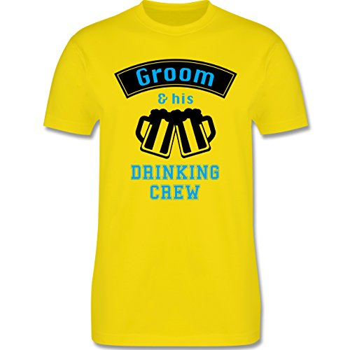 JGA Junggesellenabschied - Groom and his drinking crew - Herren Premium T-Shirt Lemon Gelb