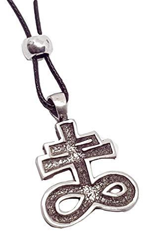 Eclectic Shop Uk Satanisches Kreuz Leviathan Schwefel Anhänger Church of Satan Anton Lavey Brimstone