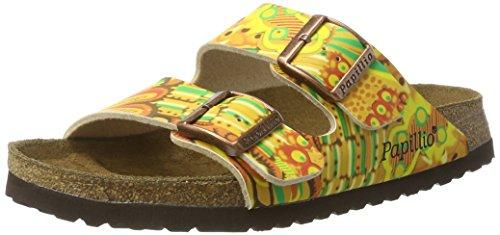 Papillio Damen Arizona Birko-Flor Pantoletten, Mehrfarbig (African Wax Gold), 38 EU