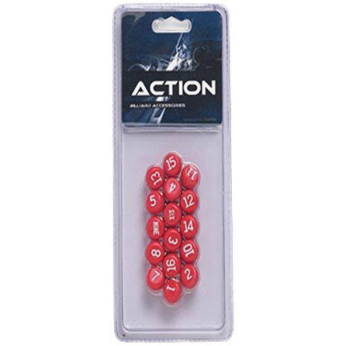 CueStix International Pillenball-Set aus Kunststoff, rot -