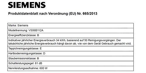 Siemens synchropower Bodenstaubsauger mit Beutel VS06B112A Bild 2*