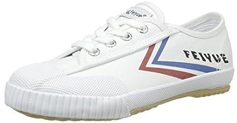 Feiyue Fe Lo Classic, Baskets Basses Mixte Enfant, Blanc (White/Blue/Red/Gum), 33 EU