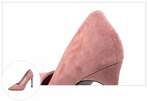 FLYRCX In autunno e in inverno la moda europea punta sottile poco profonda tacco tacchi alti sexy party scarpe E