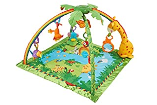 Fisher-Price K4562 - Rainforest Erlebnisdecke, Baby Krabbeldecke mit Spielzeug, Musik, Lichtern und weichem Spielbogen, ab Geburt (B000FFL58Q) | Amazon price tracker / tracking, Amazon price history charts, Amazon price watches, Amazon price drop alerts