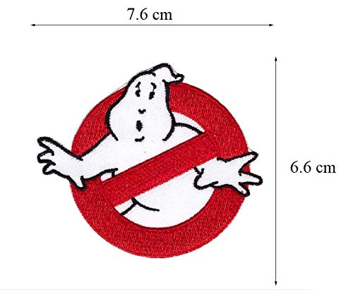 Lucky Patches, Aufnäher, Applikation, Aufbügler, Iron on Patch - Ghostbuster, Geisterjäger, The Real Ghostbusters 7,5 cm ()