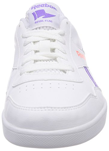 Reebok Royal Effect Unisex-Kinder Sneakers Weiß (White/Lush Orchid/Coral)