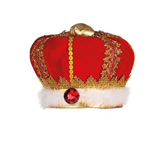 Boland 01237 - Erwachsenenhut König, Einheitsgröße, Mehrfarbig (Krone Und Zepter Kostüm)