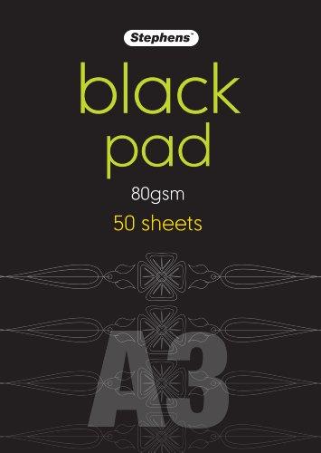 Stephens RS545354 DIN-A3-Papierblock, schwarz Hergestellt in Großbritannien