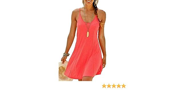 Marken Kleid A Linie Strandkleid Gr 38 40 42 44 Koralle 678736 44 Amazon De Bekleidung