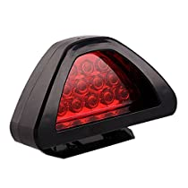 Red HEHEMM 12 LED Rear Tail Light Car Truck Flashing Strobe Lights Warning Brake Lamp Taillights for Trailers