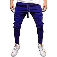 Pantalones Deportivos Hombres SUNNSEAN Dos Colores Patchwork Hip Hop Cool Cuerda  de Moda Casual Suave para e9d27b08252a