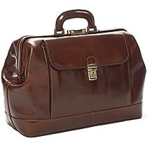 22c8203d4d D&D Doctor's Bag - Borsa medico in classica pelle vitello tamponata a mano,  prodotta esclusivamente