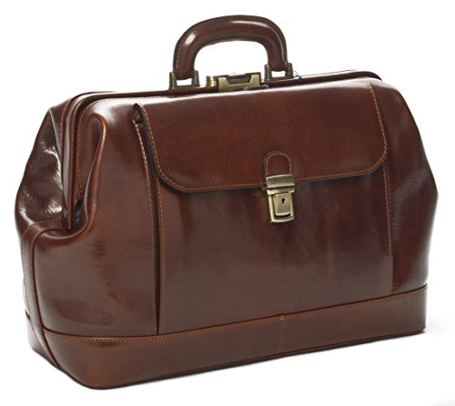 Italian Brown Leather Doctor's Bag