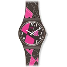 Swatch GZ266 - Reloj analógico de Cuarzo para niña con Correa de plástico, ...