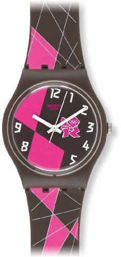 Swatch Mädchen-Armbanduhr Analog Plastik GZ266
