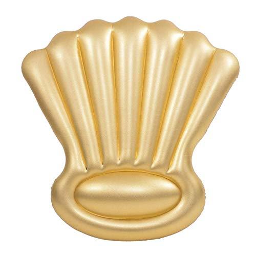 XCXDX Glänzendes Gold Shell Floating Row, Aufblasbare Float Liege Schlafsack, Tragbare Aufblasbare Flöße, Sommer Pool Spielzeug Für Erwachsene Und Kinder