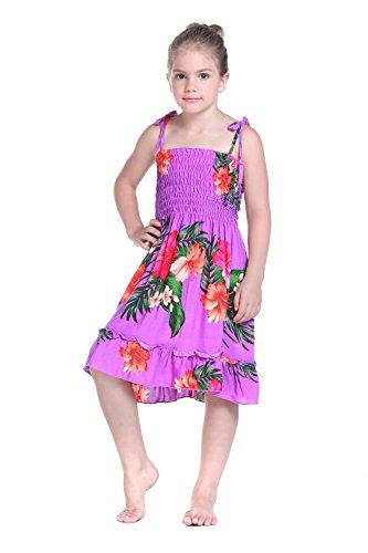 Nia-Elstico-Ruffle-Hawaiian-Luau-vestido-en-Morado-Floral-6-mes