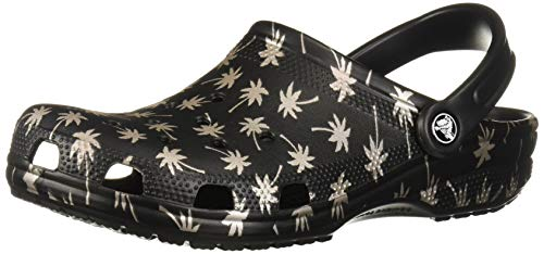 ec45baff9650d Crocs Classic Graphic Clog, black/gold, 9 US Men/ 11 US Women