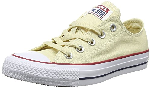 Converse Converse Sneakers Chuck Taylor All Star M9165, Unisex-Erwachsene Sneakers, Weiß (Natural White), 43 EU (9.5 Erwachsene UK) (Patch Hat Converse)