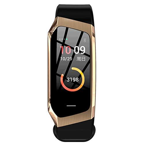 YYH Pulsera inteligente monitor en color pantalla de movimiento podómetro frecuencia cardíaca monitor de presión arterial pulsera, rastreador de fitness IP67 reloj impermeable, seis colores opcionales