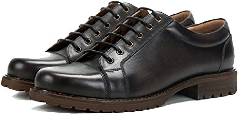 ZPEDY Zapatos De Cuero para Hombres Calzado Informal Británico Retro Zapatos Pintados A Mano Usable Cómodo Zapatos... -