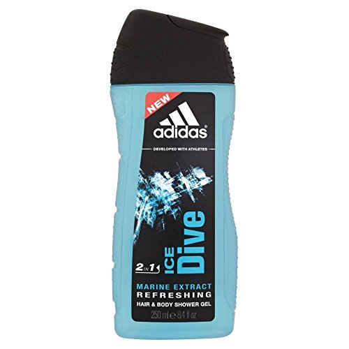 Adidas Gel douche pour les hommes – Glace plongée (250 ml)