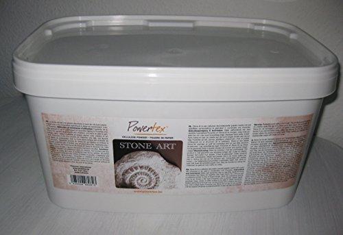 Powertex Stone Art 2000 gr 2kg 100 gr 3,25 für kreative Malerei, Skulpturen, Deko