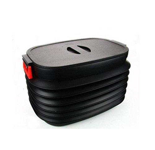 Poubelles rétractable / voiture Ménage pliant Bucket / coffre de voiture Boîte de rangement / pêche Seau de voitures (50cm * 34cm * 30cm)
