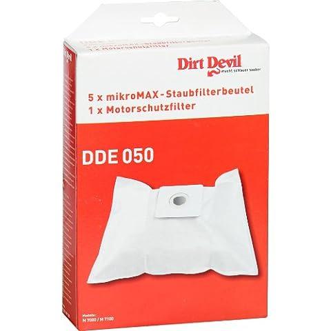 Dirt Devil Accessoires Kit de 5 Sacs + 1 Filtre pour Aspirateur Sac Mustang M7017