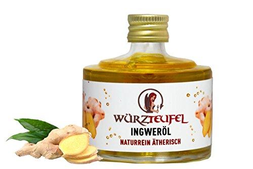 Ingweröl, Ingwer - Öl aus Sri - Lanka. Naturrein, ätherisch. Absolute Spitzenqualität. Glasflasche 40 ml.