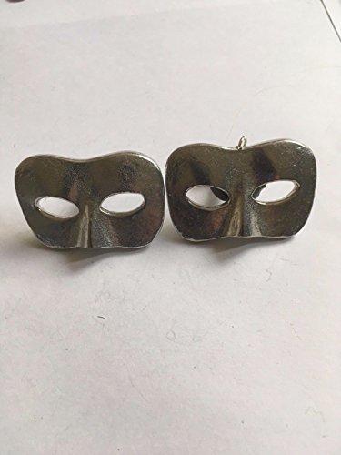 Stecker Masquerade Maske Masquerade Ball Größe 2,5cm x 4,2cm tg232Paar Manschettenknöpfe aus feinem englischen Moderne Zinn geschrieben von uns Geschenke für alle 2016von Derbyshire UK