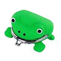 HLifuz Newest Frog Plush Purse, Cute Green Frog Coin Bag Wallet, Anime Funny Cosplay Plush Toy Funny