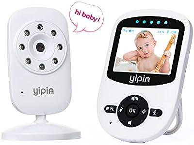 Vigilabebés inalámbrico con cámara Digital, YIPIN 2.4 pulgadas a color pantalla LCD con vision nocturna intercomunicador bidireccional, monitor de temperature y canta nanas.