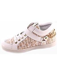 Zapatos Sneaker Alta Mujeres LIU JO Snow White Sneaker Mid Cyril Cuero  Tejido 01c395b18cc