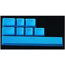 Feicuan Mechanical teclado 8 PBT Replacement Keycap para Corsair K70 STRAFE Logitech G710 -Blue