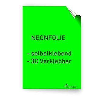 NEONFOLIE selbstklebend, 3D verklebbar - Neongrün im DIN A4 Format von Interfoil