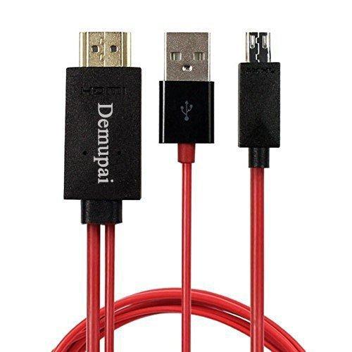 demupai MHL Micro USB auf HDMI 1080P HDTV Adapter Kabel für Samsung Galaxy Note 4Galaxy Note Edge Galaxy Note 3und Samsung Galaxy Serie Smartphone