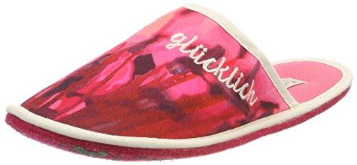 Adelheid Damen Glücklich Stoffpantoffel Pantoffeln, Rot (Koralle), 38/39 EU