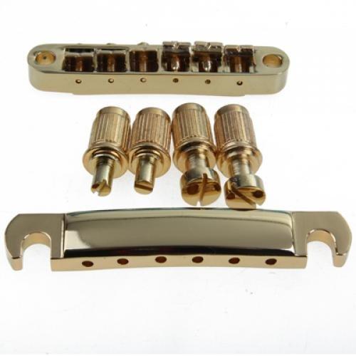 ABR-1 Tune-O-Matic - Puente y cordal para guitarra (con anclajes y arandelas)