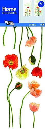 Sticker Fenster Mohnblumen Natur neuen Bildern (Wandtattoo Mohnblumen)