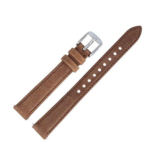 Fossil Uhrenarmband 14mm Leder Braun - Uhrband ES-3708 (Herren Orange Fossil Uhr)