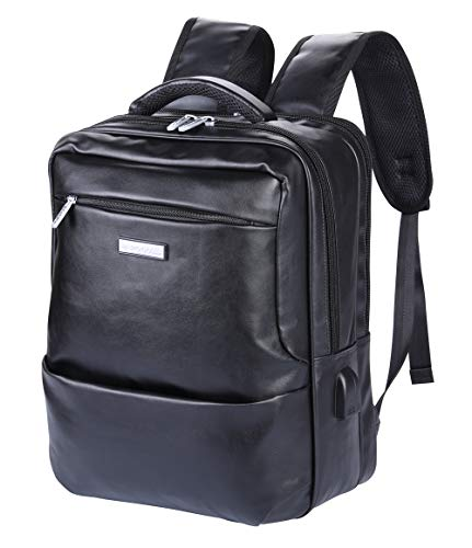 a3ba742c638c POLO VIDENG Business Backpack with USB Charging Port and Headphone  Interface