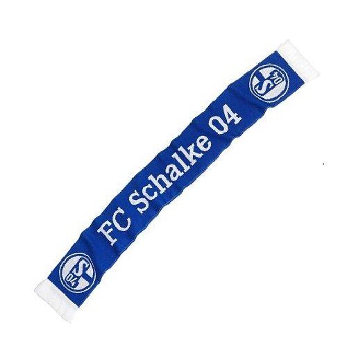 FC Schalke 04 Fan Schal Classic, Weiß Blau, L -