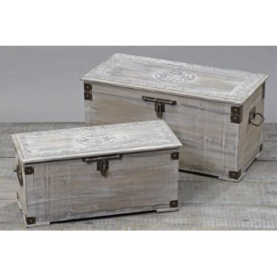 Wunderschöne Holztruhe Truhe Holzbox Länge: 68cm