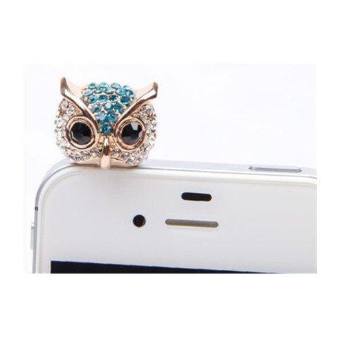 3d-owl-design-anti-dust-audio-jack-plug-decorative-phone-charm-plug-withdiamantes-for-35-mm-jackfor-
