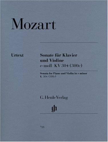 Sonate en mi mineur KV 304 (300c) --- Violon et Piano par Mozart Wolfgang Amadeus